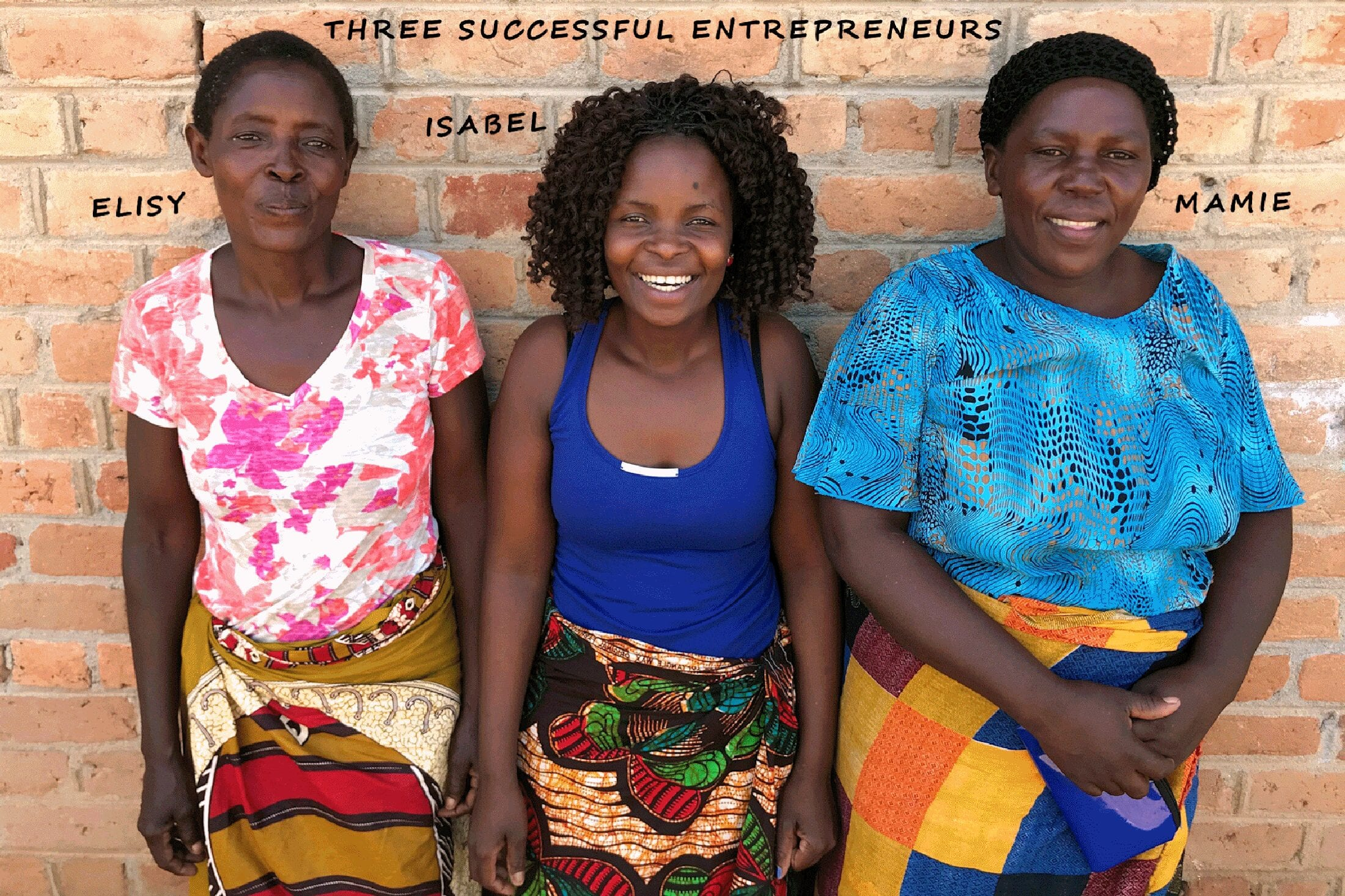 Three successful women entrepreneurs: Elisy, Isabel and Mamie